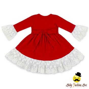 a9e5200f0d448 Wholesale Baby Cotton Frocks Designs Red Dresses Autumn Long Sleeve  Boutique 1-6 Years Old Baby Girl Dress - Buy 1-6 Years Old Baby Girl  Dress,Baby ...
