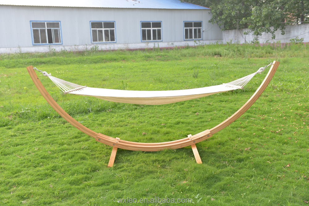 Wooden Hammock Stand,Portable Fabric Hammock,Quilted Fabric Double ...