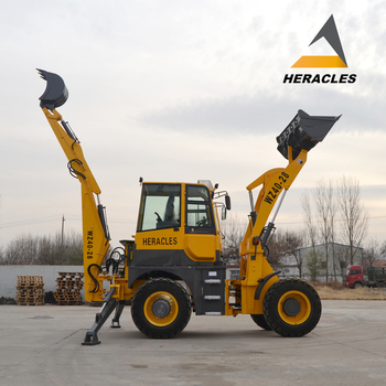 ShanDong big articulated backhoe loader mower attachment, View backhoe  mower attachment, HERACLES Product Details from Shandong Heracles Machinery