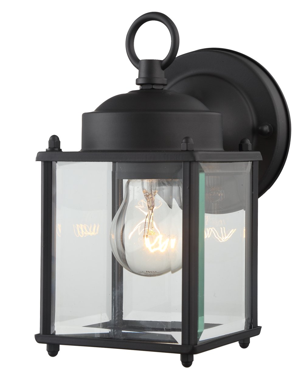 Get quotations · outdoor wall lantern black finished steel clear glass vintage exterior light fixtures 4