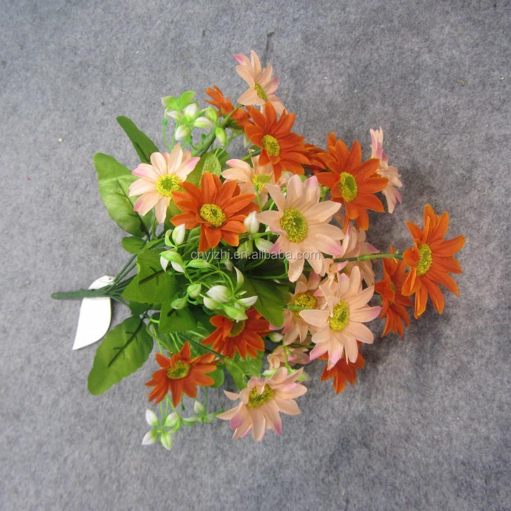 mini k nstliche blume daisy bouquet gro handel so blumen strau gef lschte gerbera blumen f r. Black Bedroom Furniture Sets. Home Design Ideas