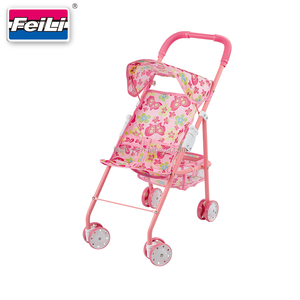 Feili cheap price doll stroller toy with umbrella dolls prams and pushchairs baby doll buggy