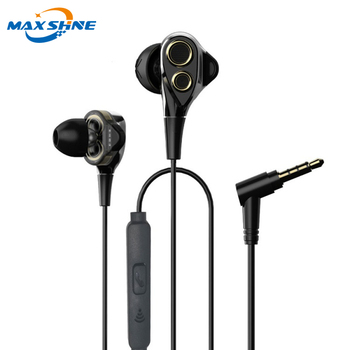 Maxshine Fashion High Quality Original Sport Waterproof 3.5Mm Wired Metal Mobile Phone Earphone Wholesale