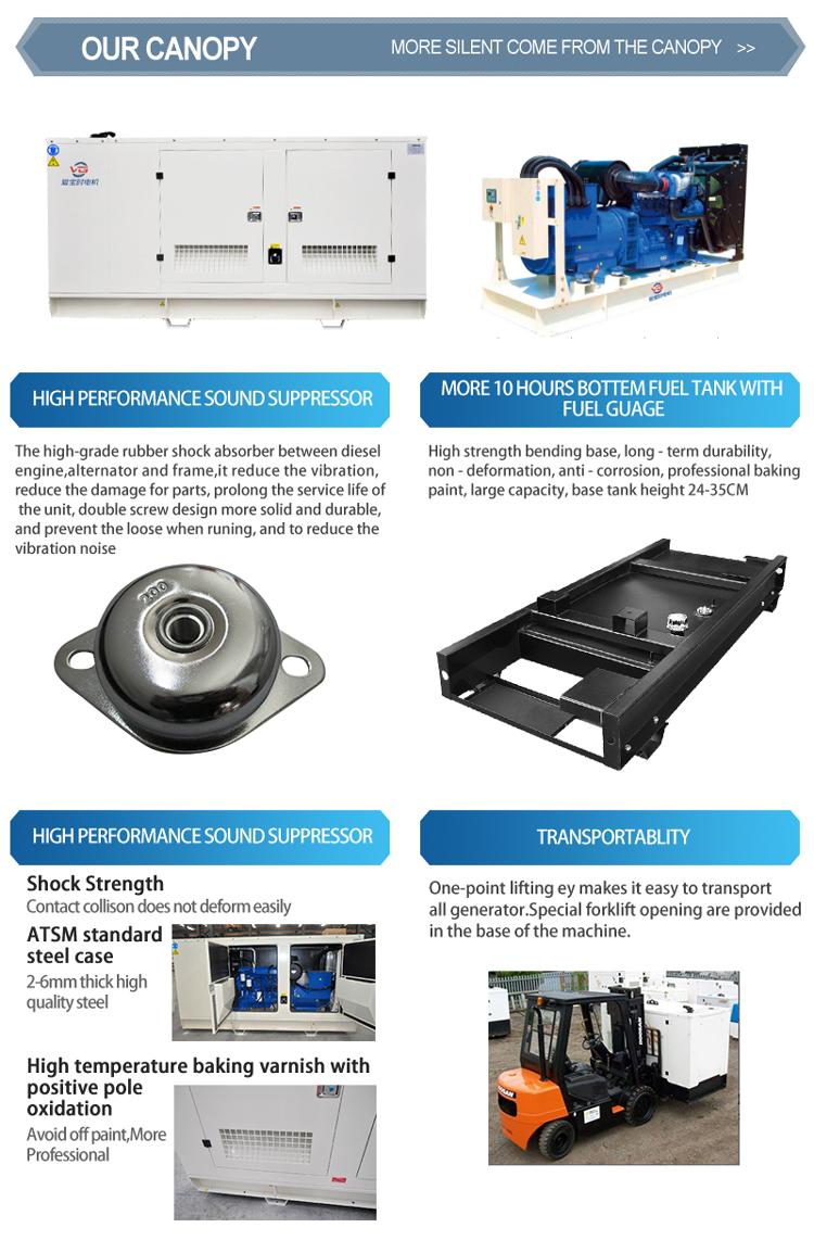 Lage prijs betrouwbare stille genset soundproof 50kva 50 kva diesel generator