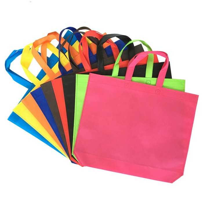 HIT factory supply customized eco-friendly high quality budget reusable grocery <strong>pp</strong> oem tote folding shopping non woven bag