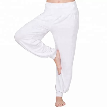 50f78a82dce40 Modal Soft Elastic Sport Trousers Waistband Fitness Yoga Harem Pants ...