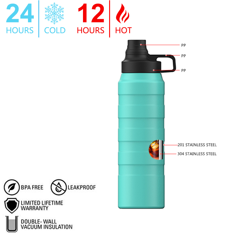 Kuangdi 18 8 High Grade Double Wall Stainless Steel Water Bottle OKADI Brand Vacuum Flask & Thermoses