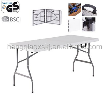 180cm plastic outdoor <strong>folding</strong> in half tables blow mold portable <strong>folding</strong> table,Rectangular Camping tables