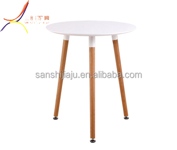 Whole Cafe Particle Board Round Tables Wood Dining