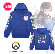 Wholesale Novel Design Thick Overwatch Anime Hoodie , Cosplay Sweatshirts