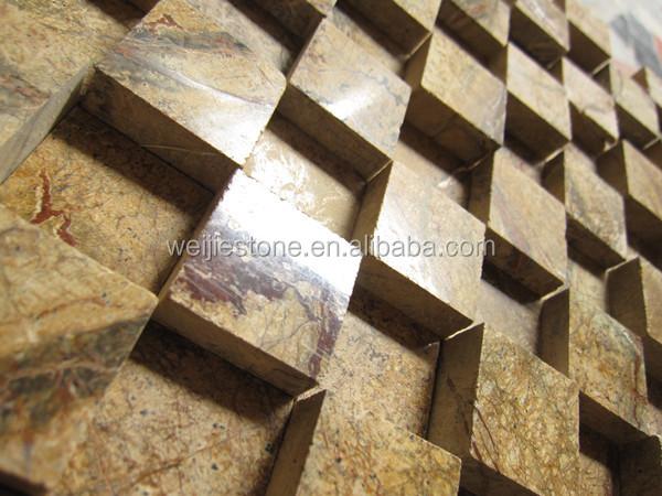 Natural Brown Stone 3d Model Mosaic Rainforest Brown