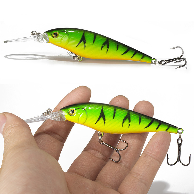 Super Quality 5 Colors 11cm 10.5g Hard Bait Minnow <strong>Fishing</strong> lures Bass Fresh Salt water 4#hook