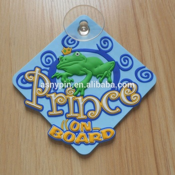 prince on board window car sign with sucker custom design wholesale