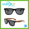 Branded sunglasses with bamboo arms and lenses smoke UV400 wholesale wood sunglasses 2017