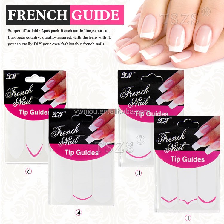 Pvc Film Type And Plastic Material Nail Tip French Guide - Buy Nail ...