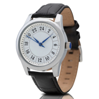 Custom Logo Indexes Watch Western Elegance Mens Watches Full Grain Leather Strap 24Hour Hand Watch
