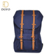 Custom made high quality navy blue foldable classic canvas backpack