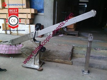 Trailer Mounted Manual Mehcanical Telescopic Mast With Winch And Tilt - Buy  Mechanical Mast,Vehicle Mounted Telescopic Mast,Military Telescopic Mast