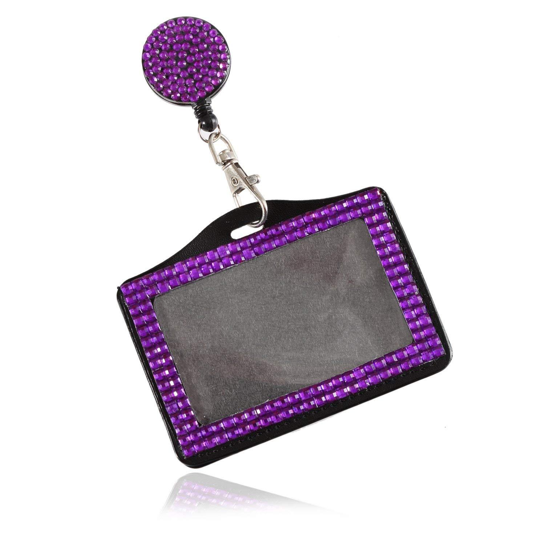 R TOOGOO Rainbow Strap Lanyard Bling Rhinestone Crystal Custom for ID Badge Key Ring Holder