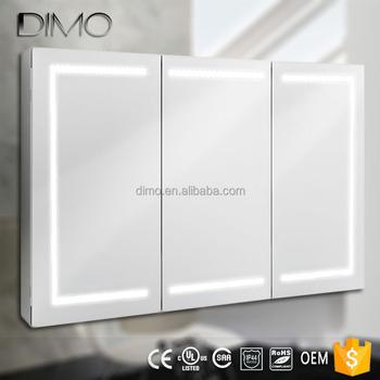 Luxury Decorate Triple Doors Kitchen Medicine Cabinet Bathroom Led Mirror