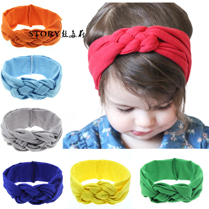 European baby boy girls fashion handmade cute rabbit bunny ear bow braided wide <strong>hair</strong> band headbands head wrap <strong>hair</strong> <strong>accessories</strong>