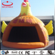 Outdoor chicken shape inflatable advertising event tent / yellow color inflatable shell tent