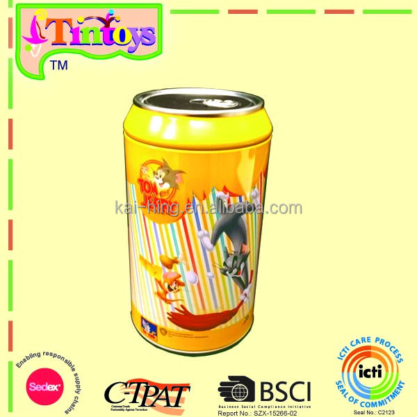 gift food chocolate candy cookie biscuit Pop Drink Can Shape round tin can