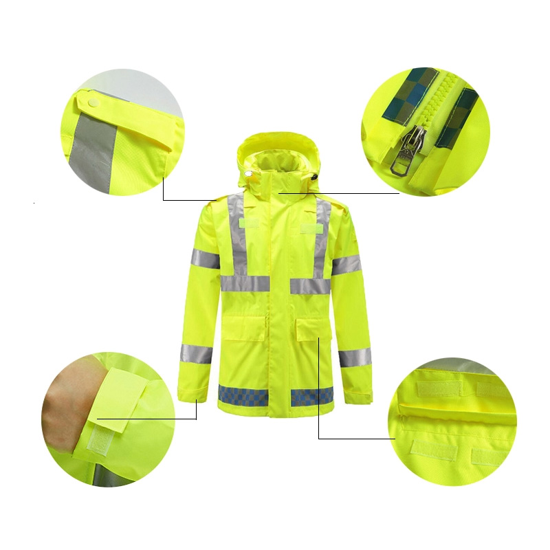 Haute Visibilité Vêtements De Travail De Sécurité À Manches Longues Poche T-Shirt Vêtements De Sécurité
