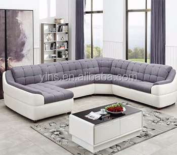 7 Seater Big Size Living Room L Shape Velvet Leather Sofa Cum Bed