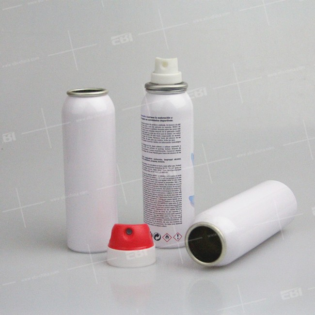 New custom perfume aluminum aerosol spray tubes
