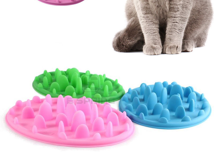 Portable Anti-Choking Silicone feeding Bowl Pet Eat Slow Dog Feeder