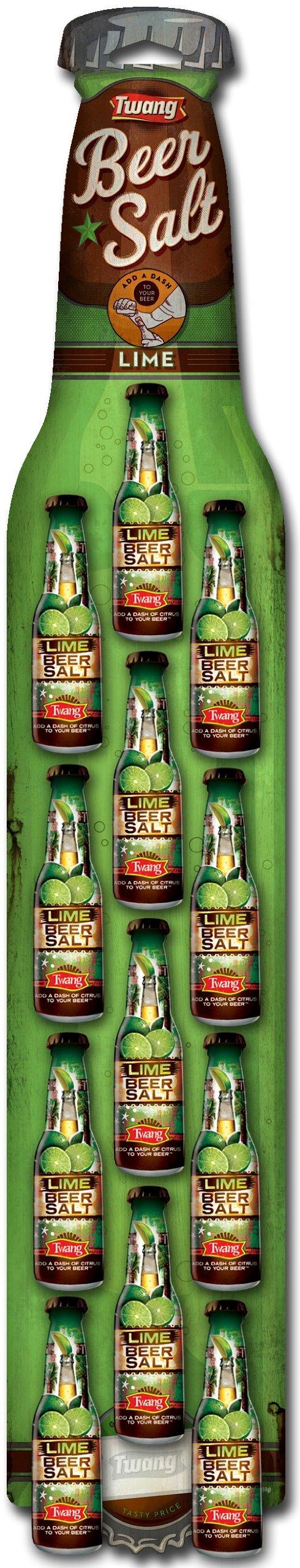 Twang the Original Beer Salt, Lime, 1.4-Ounce Bottles (Strip of 12)