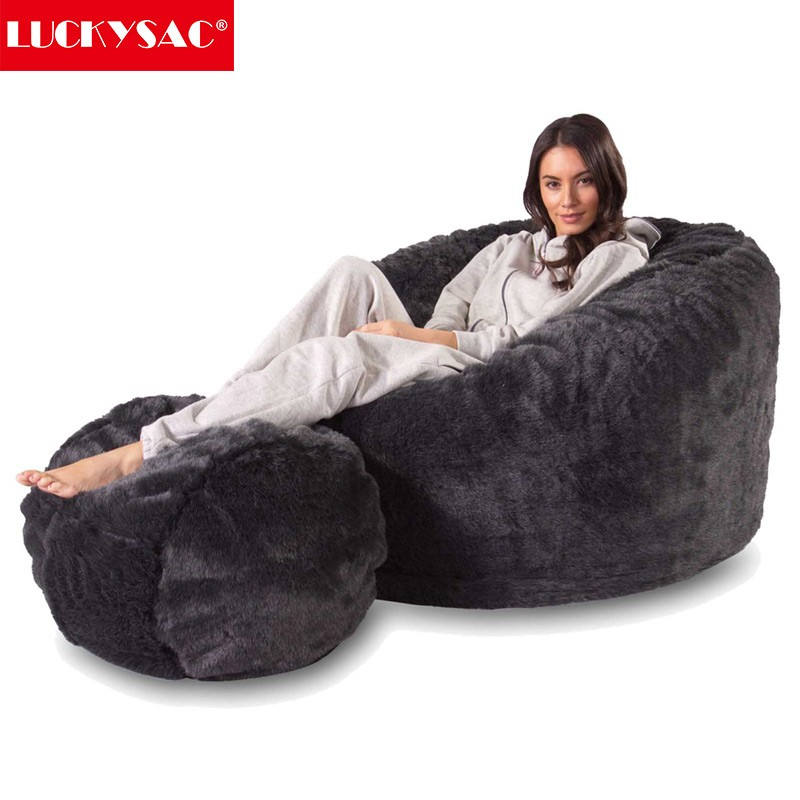 5ft/6ft/7ft Micro Suede Lazy Boy Bean Bags Large Size Foam Bean Bag