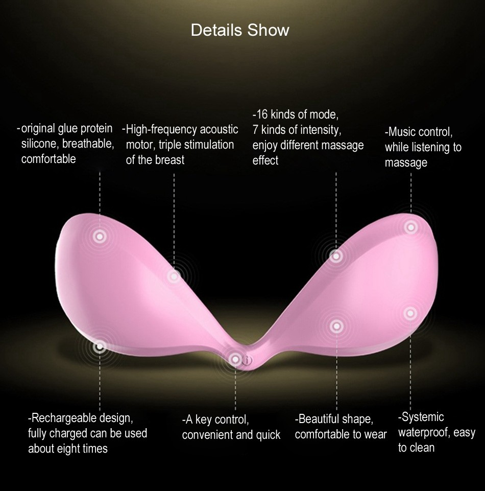 Silicone USB Rechargeable Intelligent App Control Breast Massager Nipple Vibrator Sex Products Adult Sex Toys for Women