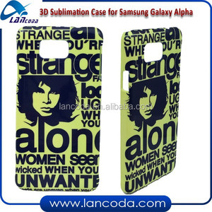 Printable Blank Photo 3D Sublimation Phone Case for Samsung Galaxy Alpha G850 phone cover