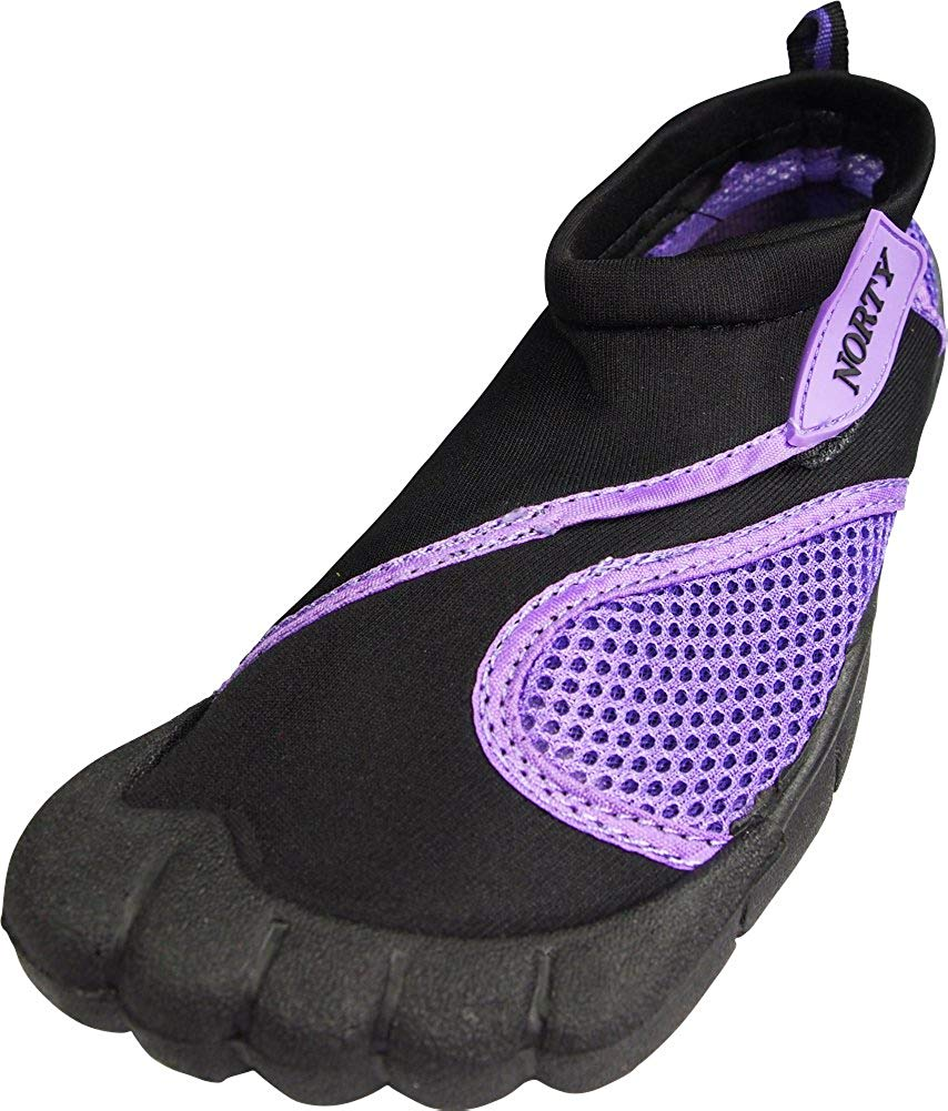 1e222eb99 Get Quotations · NORTY Womens Aqua Shoes - Ladies Quick Drying Water Sports  Socks for Beach Pool Boating Swim