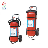 CE certificate empty trolley mounted abc dry powder fire extinguisher / 25kg 50kg trolley wheeled dcp fire extinguisher