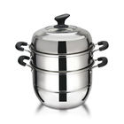 Hot Stainless Steel Food Steamer Pot Chinese Bun Steamer Dumpling Steamer