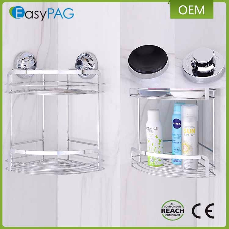 EasyPAG hanging bathroom shower shampoo rack with suction cup