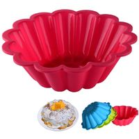 Lixsun Food Grade BPA Free Big Size Flower Shape Silicone Cake Mold 3d Chiffon Cake Pan Mould Silicone Cake Baking Pastry Pan