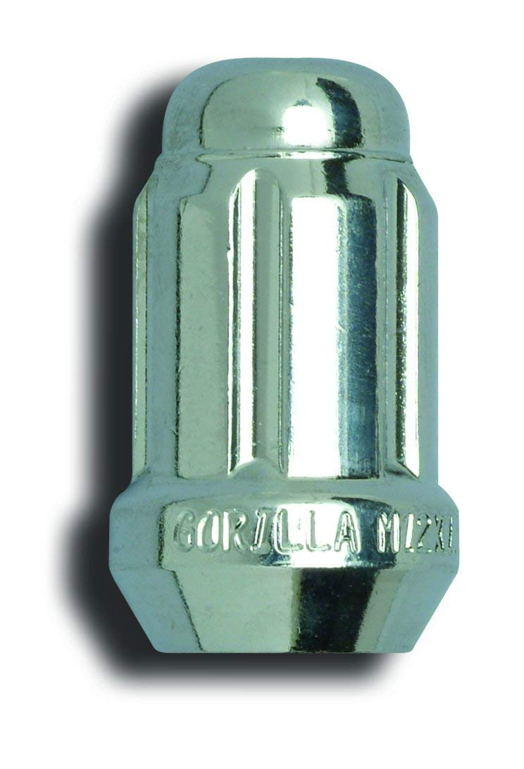 Gorilla Automotive 21188HT Acorn Chrome Small Diameter Lug Nut - 1/2-Inch Thread Size - Box of 100