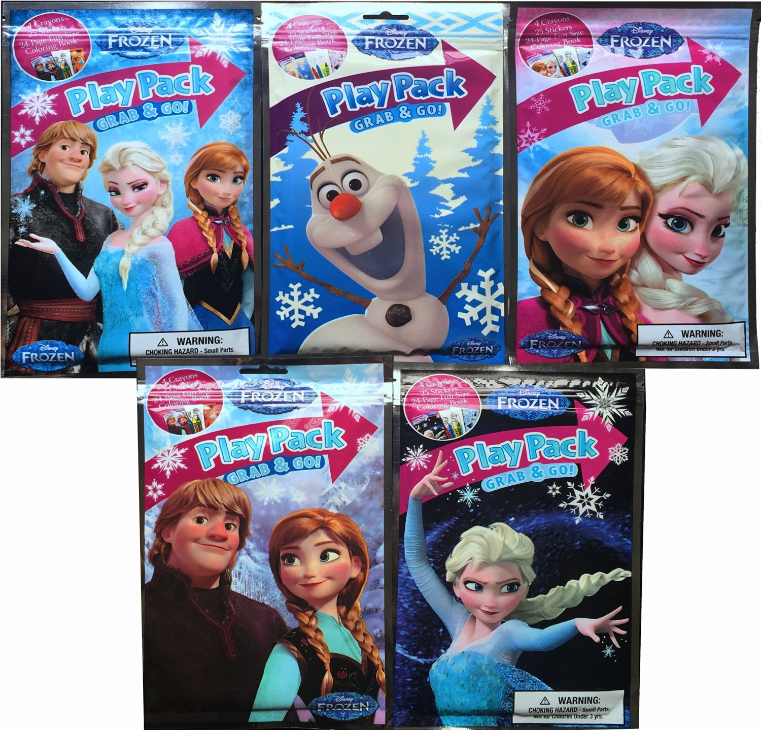 Disney Frozen Anneelsa And Olaf Play Packs Ultimate Collection Arts Crafts Set Each