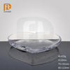 Factory Price Clear Heart Shaped Glass Dessert Plate from China Gold Supplier