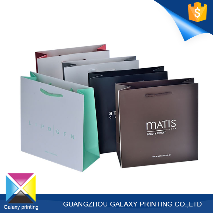 Factory price custom durable garment packaging shopping bag paper with logo print