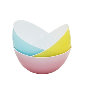 VARYAG New Product Food Grade PP plastic Tow Colors BPA Free Kitchen Fruit Salad Mixing Candy Dish Plastic Bowls