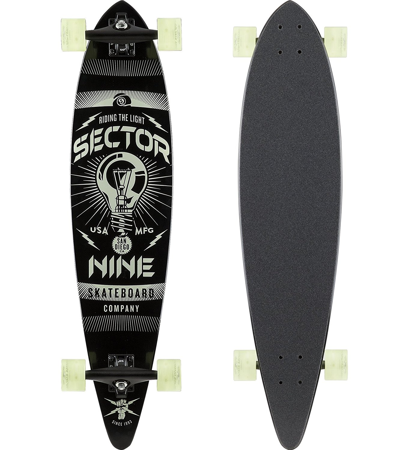 "Sector 9 Beacon Complete Skateboard, Assorted, 38"" x 8.75"" WB - 25.75"""