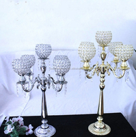 Wedding 5 Cup Gold Candelabra Centerpieces