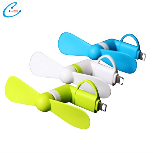 Portable 2 in 1 for Android And iphone Fan Micro USB Mobile phone mini cooling fan