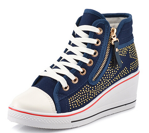 2cc23b0368f Cheap White Wedge Sneakers Women