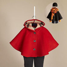 Baby Girls Toddler Autumn Winter Hooded Coat Cloak Outerwear Clothes 2 7 Years Trench Outerwear Coats
